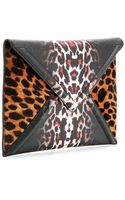 McQ by Alexander McQueen Printed Fauxleather Textured Clutch - Lyst