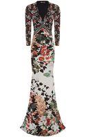 Roberto Cavalli Floral Maxi Dress - Lyst