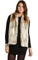 BCBGeneration Shawl Collar Faux Fur Vest - Lyst