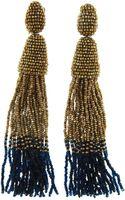 Oscar de la Renta Long Ombre Tassel Earrings - Lyst