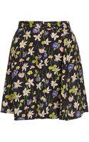 Topshop Wild Flower Button Skirt - Lyst