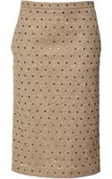 No 21 Genie Crystalembellished Lace Skirt in Camel - Lyst