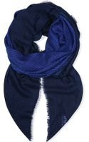 Armani Checked Ombr Scarf - Lyst
