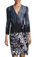 BCBGMAXAZRIA Longsleeve Stretchknit Wrap Dress - Lyst