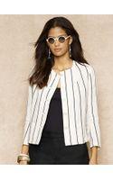 Blue Label Striped Linen Jacket - Lyst