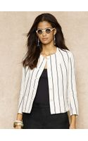 Ralph Lauren Blue Label Striped Linen Jacket - Lyst
