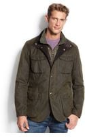 Barbour Ogston Waxed Jacket - Lyst
