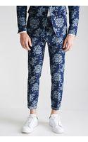 21men Rose-patterned Denim Pants - Lyst