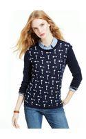 Tommy Hilfiger Keyprint Sweater - Lyst