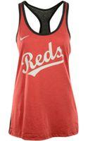 Nike Womens Cincinnati Reds Racerback Tank - Lyst