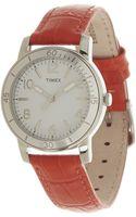 Timex® Ameritus Sport Watch Wleather Strap - Lyst