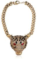 Roberto Cavalli Panther Necklace with Swarovski Crystals - Lyst