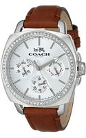 Coach Boyfriend 40mm Leather Strap Watch - Lyst
