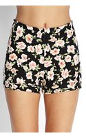 Forever 21 Knit Floral Print Shorts - Lyst
