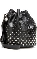 Alexander McQueen Padlock Studded Leather Tote - Lyst