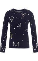 Chinti & Parker Constellation-intarsia Cashmere Sweater - Lyst