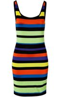 Ralph Lauren Black Label Jersey Striped Tank Dress - Lyst