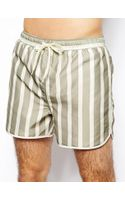 Selected Striped Swim Shorts - Lyst
