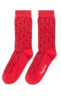 Happy Socks Optic Combed Cotton Socks - Lyst