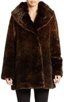 Jones New York Faux Fur Coat - Lyst