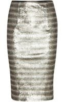 Burberry London Sequinned Satin Pencil Skirt - Lyst