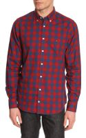 Tommy Hilfiger Red and Blue New York Fit Plaid Check Shirt - Lyst