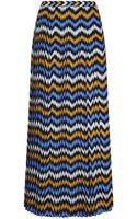 Michael by Michael Kors Zigzag Pleated Maxi Skirt - Lyst