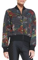 Jean Paul Gaultier Floralprint Bomber Jacket - Lyst