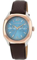 Vince Camuto Mens Brown Leather Strap Watch 42mm Vc - Lyst
