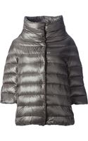 Herno Cropped Padded Jacket - Lyst