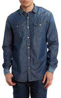 Armani Jeans Denim Shirt - Lyst