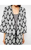 Asos Kimono Cardigan in Pattern - Lyst