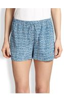 Vince Silk Staticprint Shorts - Lyst