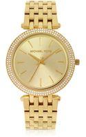 Michael Kors Goldtone Stainless Steel Bracelet Womens Watch - Lyst
