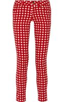M Missoni Checked Mid Rise Skinny Jeans - Lyst