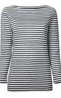 Tory Burch Striped Top - Lyst