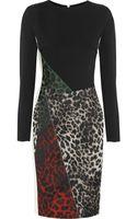 Roland Mouret Dresden Leopardjacquard and Crepe Dress - Lyst