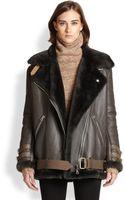 Acne Studios Oversized Lamb Shearlingleather Motorcycle Jacket - Lyst