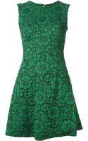 Ermanno Scervino Floral Lace Keyhole Dress - Lyst