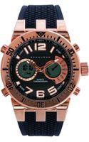 Sean John Mens Analog-digital Black Silicone Strap Watch 60x45mm - Lyst