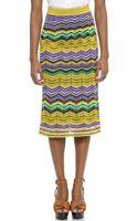 M Missoni Multi Zigzag Stripe Skirt - Lavender - Lyst