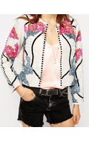 Asos Jacket with Harlequin Embellishment - Lyst