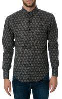 Naked & Famous The Kimono Geometric Ls Buttondown Shirt - Lyst