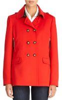 Jones New York Double Breasted Short Coat - Lyst