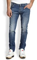 DSquared2 Rider Washed Denim Jeans - Lyst