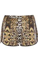 River Island Brown Leopard Print Pyjama Shorts - Lyst