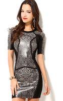 Akira Black Label Bandage Print Dress - Lyst
