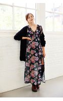 Mink Pink Light Floral Breeze Vneck Maxi Dress - Lyst