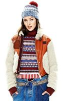 Tommy Hilfiger Runway Shearling Bomber Jacket - Lyst