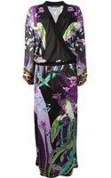 Roberto Cavalli Printed Maxi Dress - Lyst